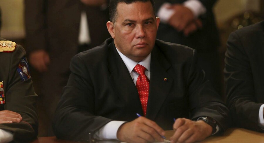 Venezuelas indenrigs- og justitsminister Gustavo Gonzalez er en af de syv venezuelanske topfolk, der har fået pålagt sanktioner af EU's udenrigsministre.