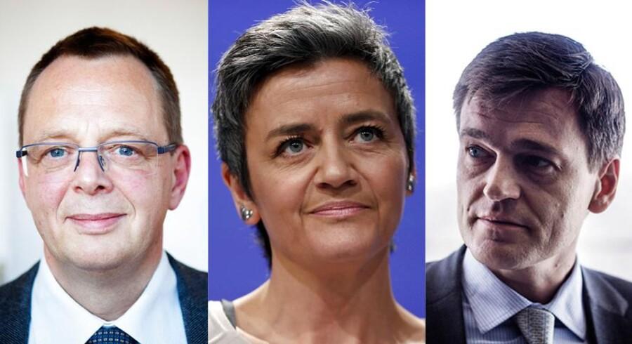 Christian Kettel Thomsen, Margrethe Vestager og Carsten Stendevad.