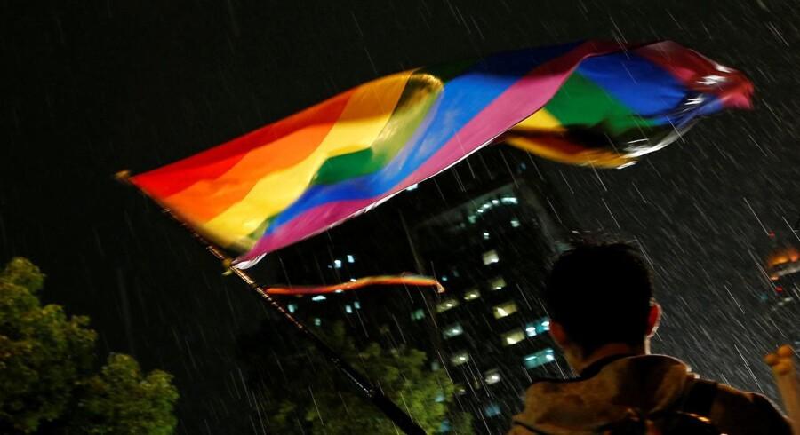 I maj 2017 blev det gjort lovligt for homoseksuelle par at blive gift i Taiwan. REUTERS/Tyrone Siu