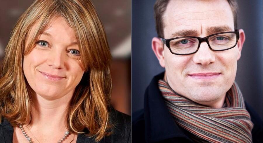 Anne Buchardt, chef for opsparing og pension i Nordea (PR-foto) og Sune Worm Mortensen, global chef for Wealth Offerings, Danske Bank (Foto: Camilla Rønde)
