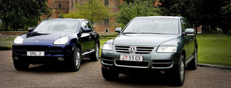 Porsche Cayenne og VW Touareg er blandt de eksklusive firehjulstrækkere.
