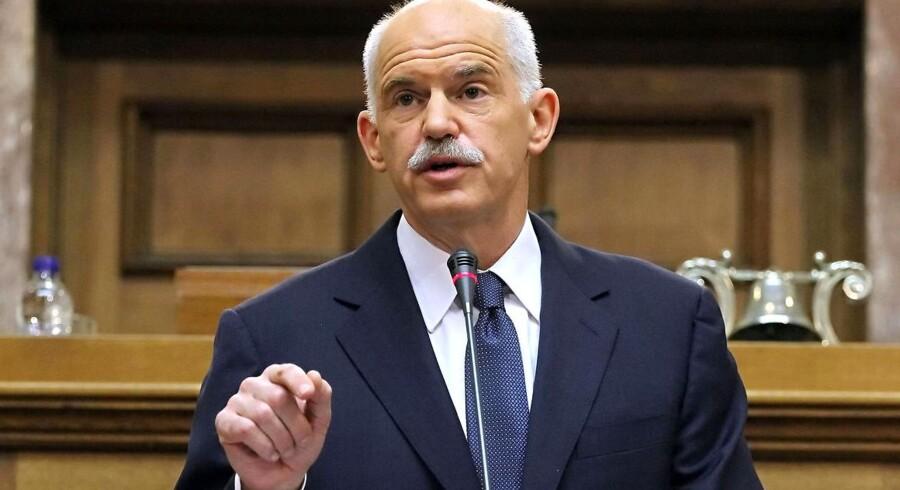 Den græske premierminsiter George Papandreou vil efter alt at dømme ikke få nogen rolle i den nye overgangsregering.