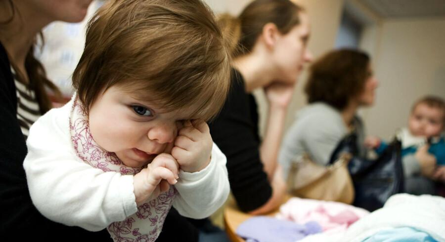 Stigningen af mødre, der har brug for hjælp til børneopdragelsen eller håndtering af økonomien efter en skilsmisse, er også tiltagende i 2011. Arkivfoto som illustration.