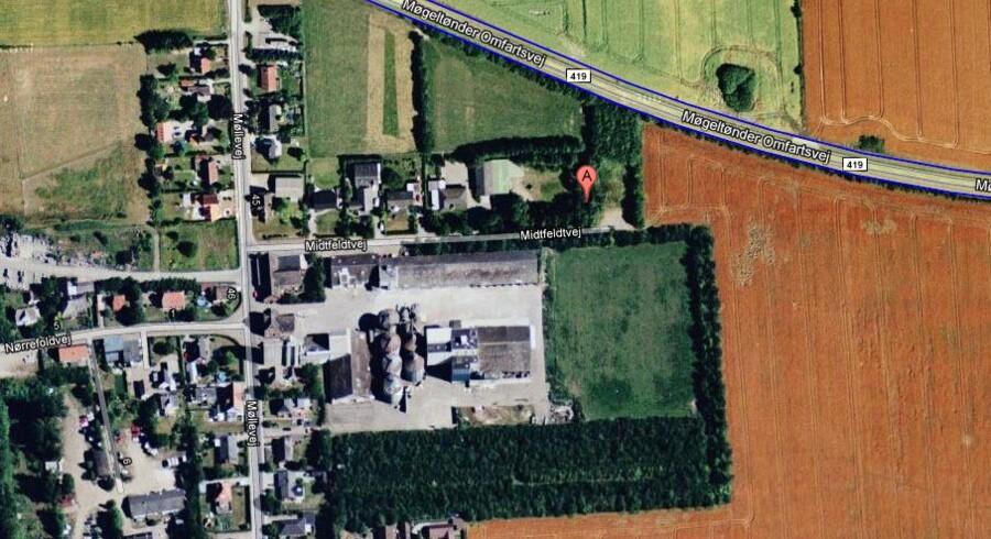 Bunkeren ligger på Midtfeldtvej i Møgeltønder - ikke langt fra Schackenborg.