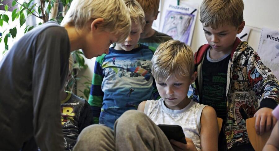 Bækkegårdsskolens SFO i Ølstykke, hvor børnene har deres skole-iPads med.