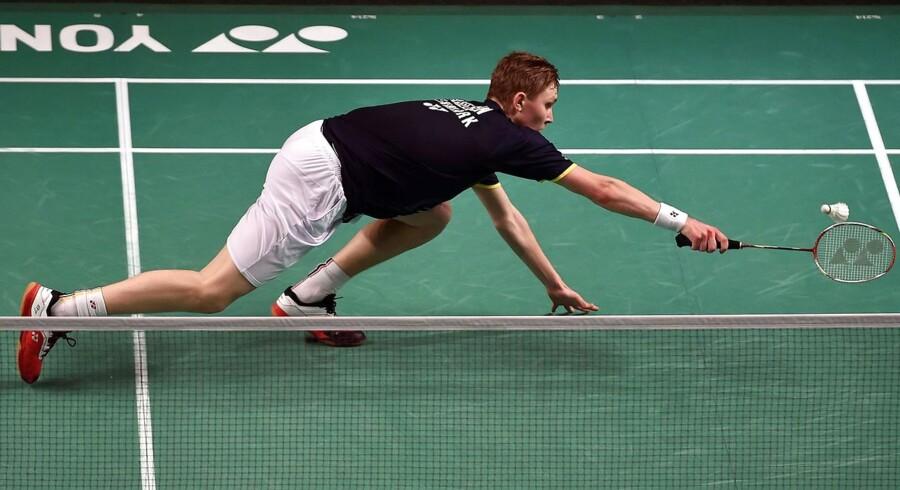 Viktor Axelsen er færdig efter bare en kamp i Indonesia Open.