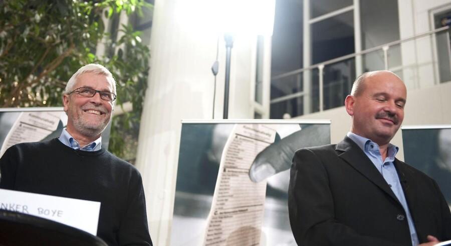 Socialdemokraternes Anker Boye (tv) og de konservatives Jan Boye til et debatmøde i 2009.