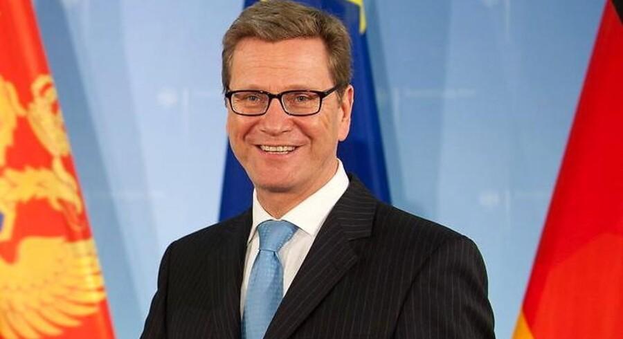 Tysklands udenrigsminister Guido Westerwelle.