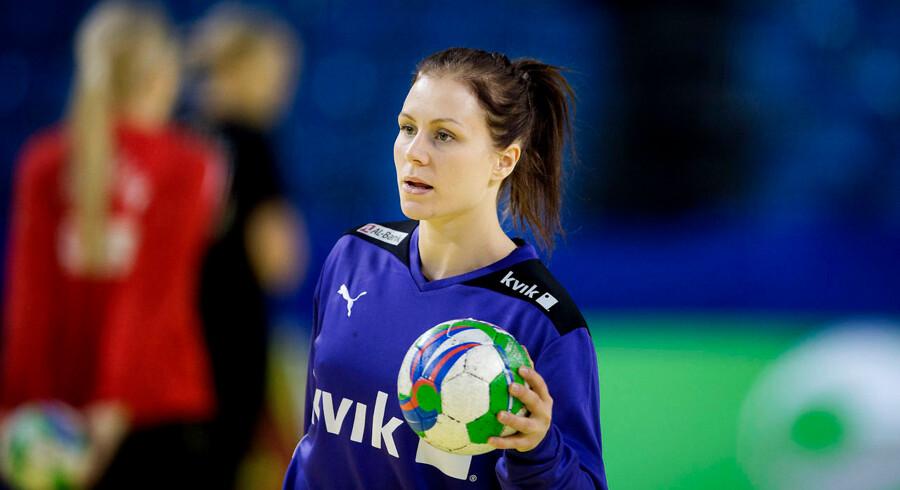 Team Esbjergs playmaker Lotte Grigel var ærgerlig efter nederlaget i DM-finalen mod FC Midtjylland.