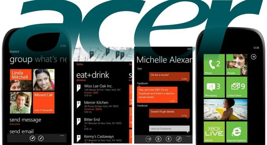 Acer har nu tænkt sig at lancere en Windows-mobil - inden året er omme.