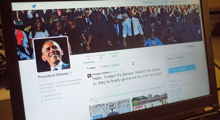Sådan så det ud, da præsident Barack Obama udsendte sit første tweet fra sin nye konto, POTUS.