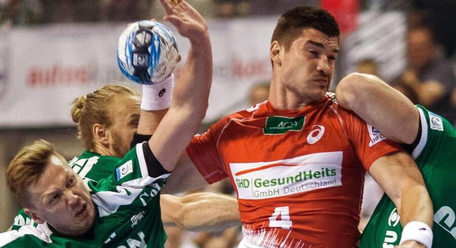 Skjern taber til HSV Hamburg i EHF Cup-semifinale på billedet her, men de danske pokalvindere tog revanche mod Gorenje og dermed bronze i IHF Cup.
