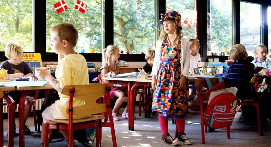 Børnehaveklassernes første skoledag fra Hareskov Skole.