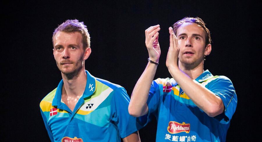 Dansk badmintons såkaldte kagekonflikt, hvori Carsten Mogensen og Mathias Boe (billedet) har været involveret, har fundet en løsning.
