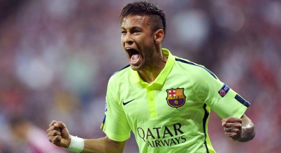 Neymar scorede begge mål for FC Barcelona, da de tirsdag tabte 2-3 til Bayern München. Sammenlagt vandt den spanske ligas førerhold 5-3.