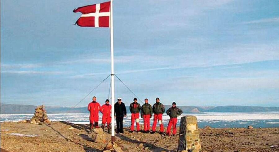 Danske soldater på Hans Ø.
