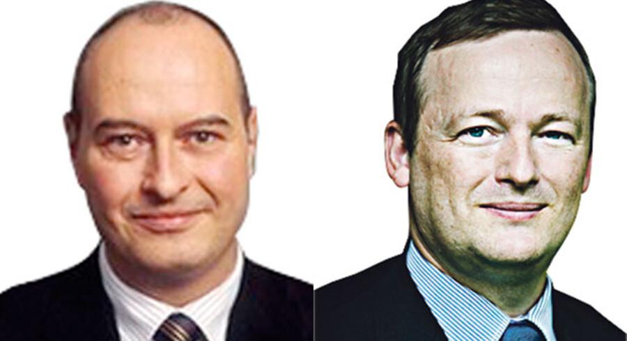 Allan Luplau, formand for Djøf Privat og Per Hansen, formand for Offentlige chefer i Djøf.