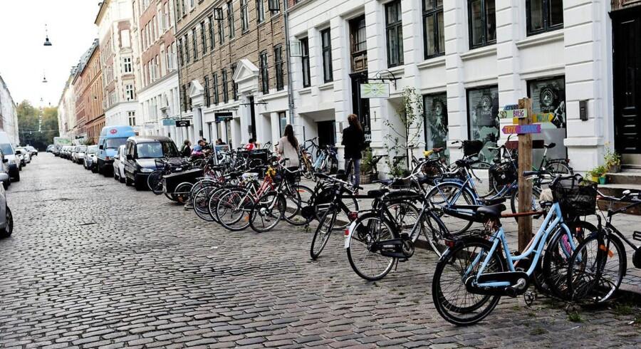 Pusherne i Jægersborggade er rykket videre til Nørrebroparkens udkant, der kan skimtes i baggrunden.