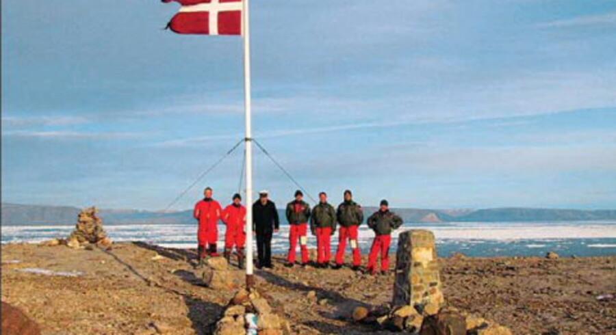 Hans Ø er naturligvis dansk. Det er canadierne ikke helt enige i. Foto: Søværnets Operative Kommando.