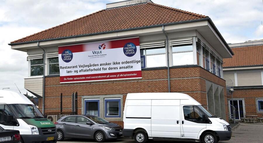 Arkivfoto fra 3Fs kontorer i Vejle, da konflikten med Restaurant Vejlegården stadig var i gang.