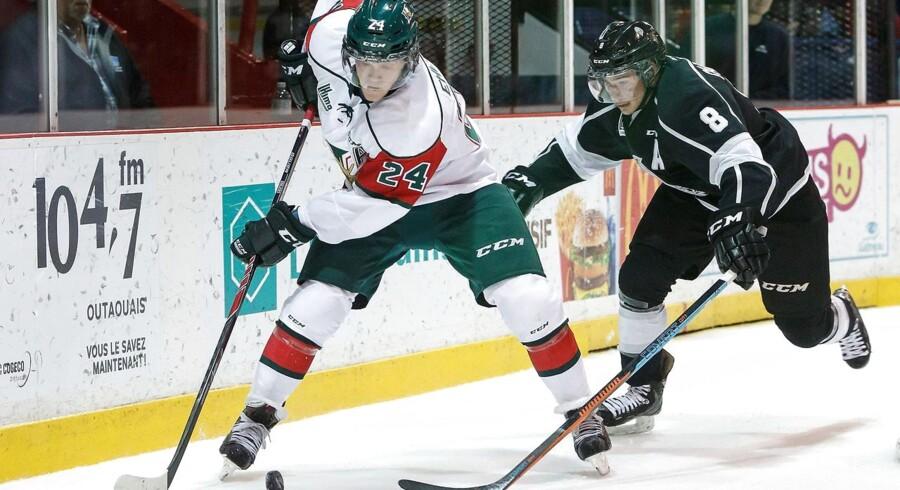Det danske supertalent i Halifax Mooseheads, Nikolaj Ehlers (24), er rykket nærmere Winnipeg Jets.