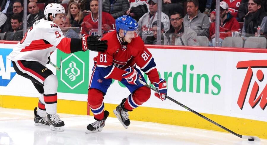 Lars Eller (81) og Montreal Canadiens har fået en god start i playoffserien mod Ottawa Senators.