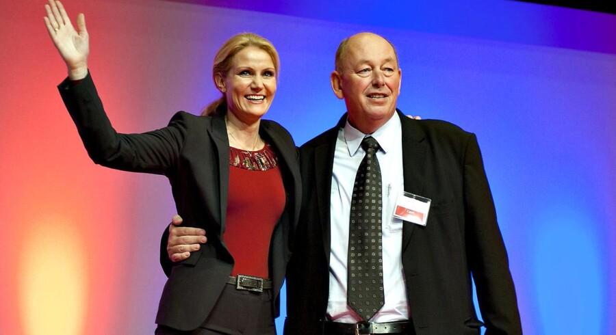 Helle Thorning-Schmidt og LO-formand Harald Børsting ved Socialdemokraternes kongres i Aalborg forrige år.