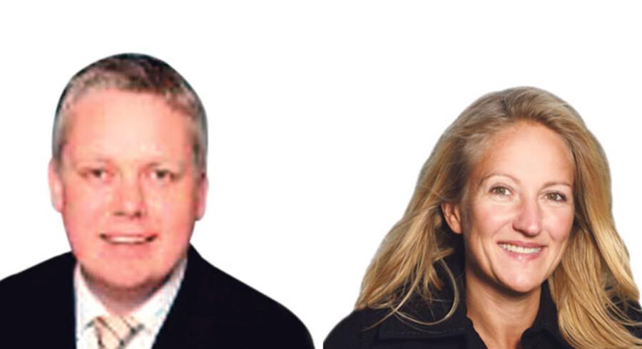 Per Møller, adm. direktør i Ernst & Young, og Lene Court-Payen, markedsdirektør i Dansk Erhverv