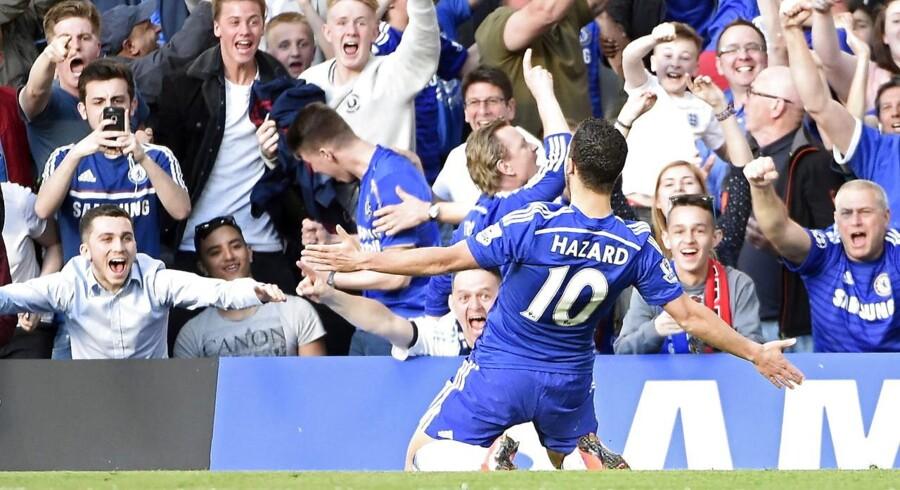 Eden Hazard jubler over sejrsmålet.