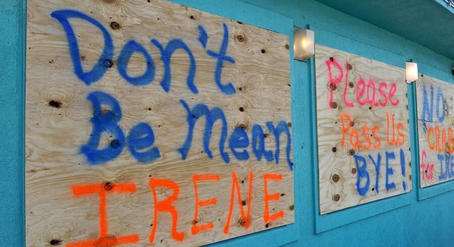 I staten North Carolina forsøger beboere at appellere til orkanen Irene.
