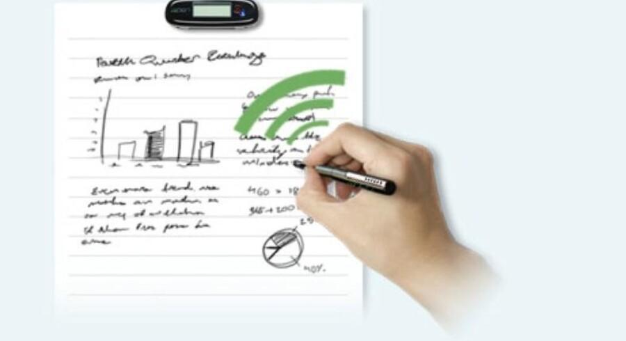 Glem alt om dobbeltarbejde, når der skal noteres: Denne pen digitaliserer din håndskrift, mens du skriver.