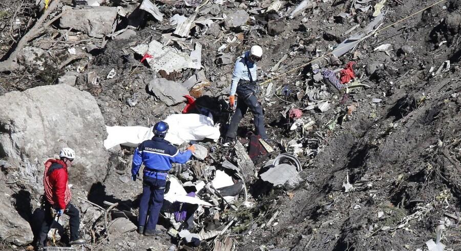 Vragresterne blev spredt ud over flere bjergsider.