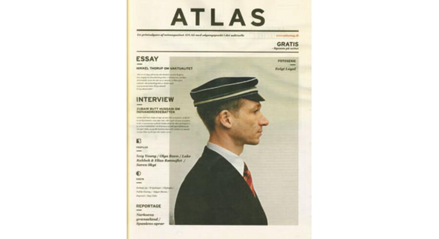 Forsiden af den  papirudgave af ATLAS, som blev udgivet i forbindelse med jubilæet.