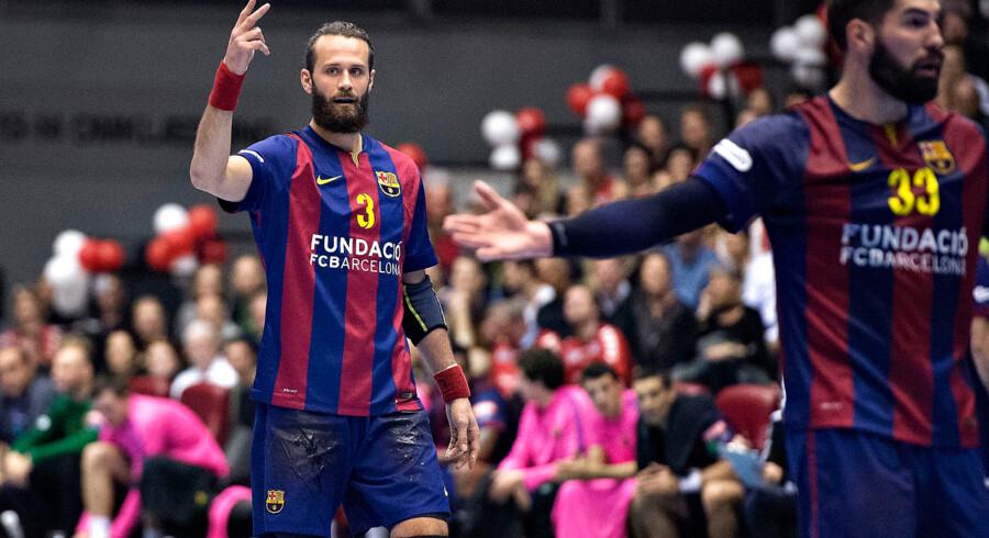 Aalborg Håndbold (DEN) - FC Barcelona (ESP) , Champions League , Gigantium, Aalborg : Barcelonas Jesper Nøddesbo