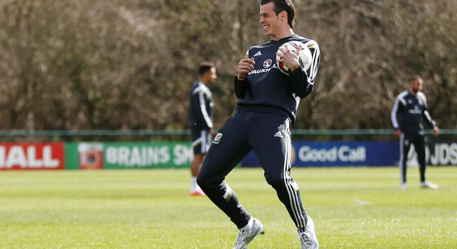 Gareth Bale under en Real Madrid-træning.