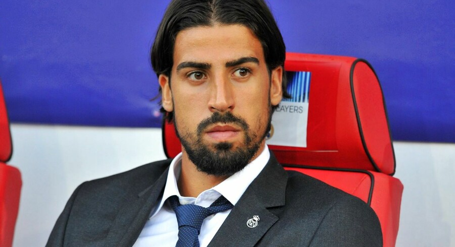 Real Madrid's German midfielder Sami Khedira looks on ahead of the UEFA Super Cup football match between Real Madrid and Sevilla at Cardiff City Stadium in Cardiff, south Wales on August 12, 2014. AFP PHOTO / GLYN KIRK