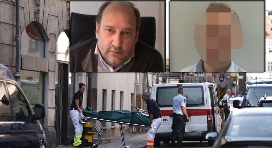 Advokaten Anders Lindholdt blev dræbt og en 31-årig MB blev hårdt såret, da en 67-årig mand åbnede ild i Fogedretten 16. september sidste år.