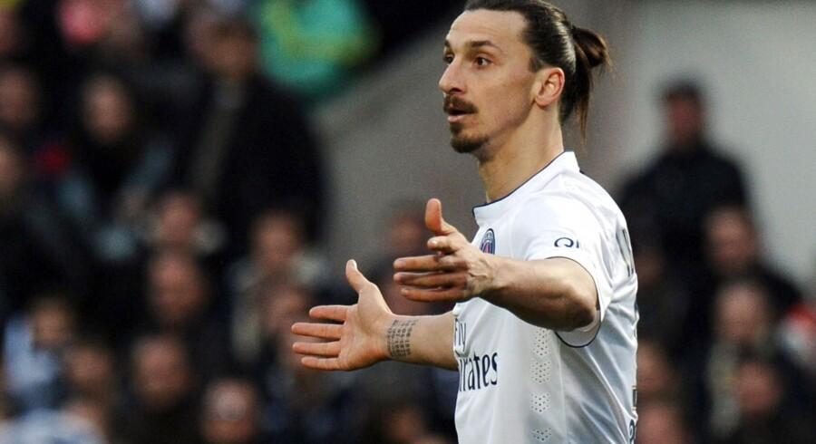 Zlatan Ibrahimovic scorede to gange for PSG, men det var ikke nok til point.
