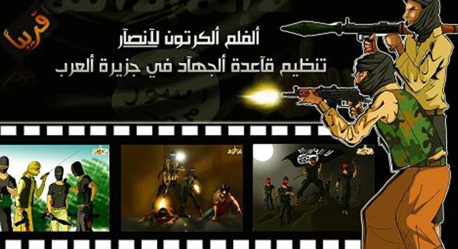 På det lukkede og arabisktalende jihad-webforum al-Shamouk blev det i slutningen af juli bekendtgjort, at en tegnefilm, der skal lære børn om al-Qaeda og inspirere dem til at begå jihad, er ved at være i det afsluttende stadie.