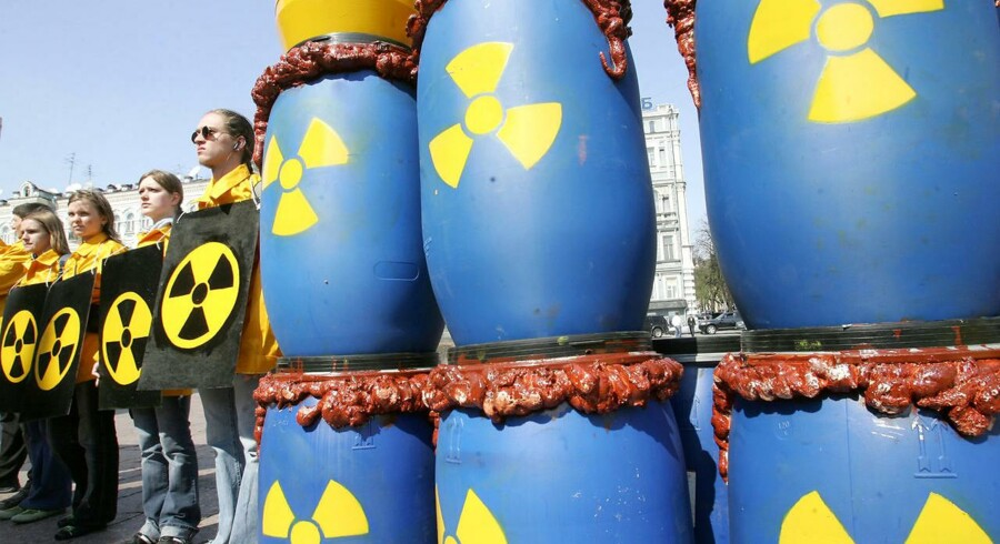 Arkivfoto fra en anti-atomdemonstration.