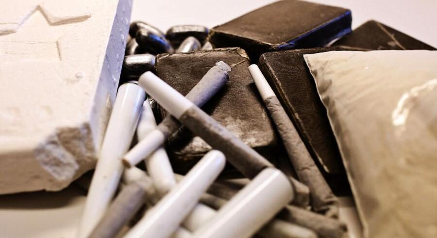 Arkivfoto: Kokain, joints, hash og heroin