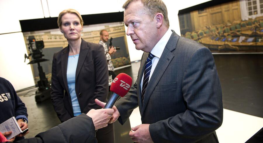 Lars Løkke Rasmussen og Helle Thorning -Schmidt mødes til duel på DR.