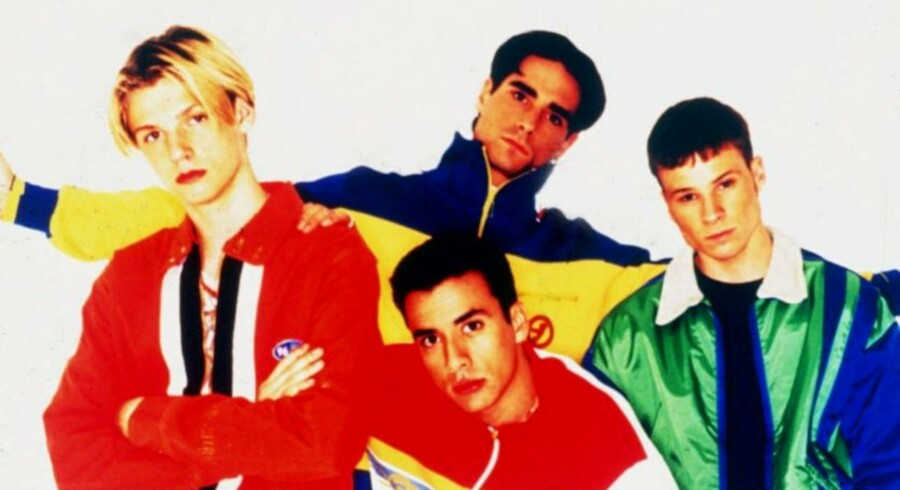 Den amerikanske pop-gruppe Backstreet Boys. 1996.