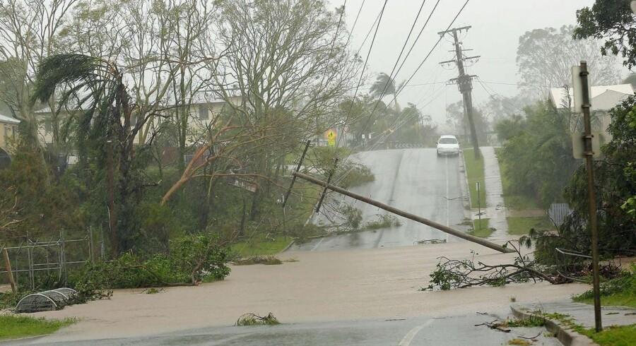 Kystbyen Yeppoon i Queensland er et af de steder, som er blevet hårdt ramt af cyklonen Marcia.