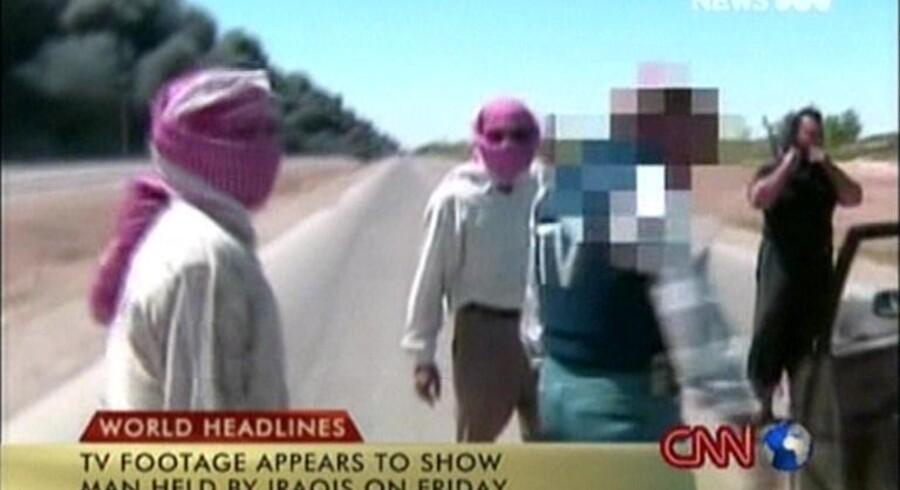 Maskerede mænd har på video vist et gidsel, som er amerikansk. Foto fra CNN