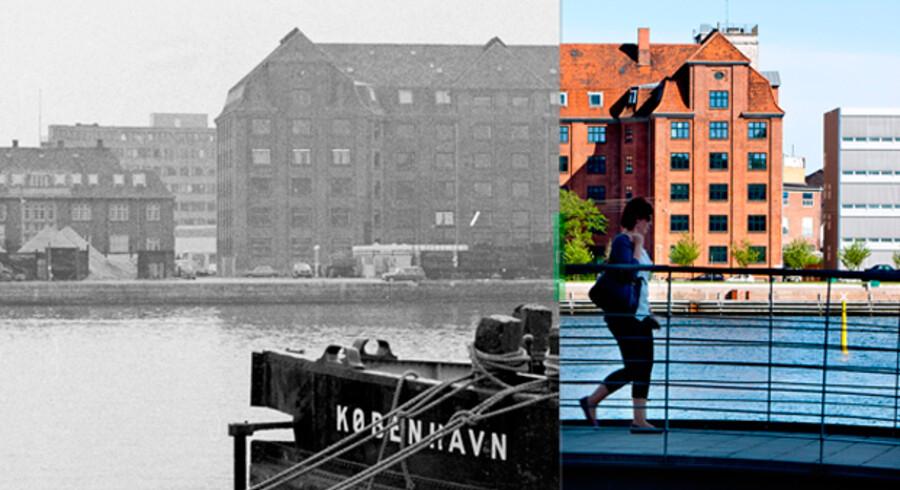 Islands Brygge i 1972 og 2011.
