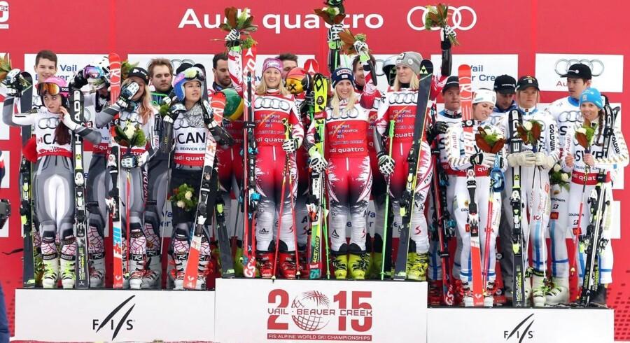Østrig vandt holdkonkurrencen ved VM i alpint skiløb.