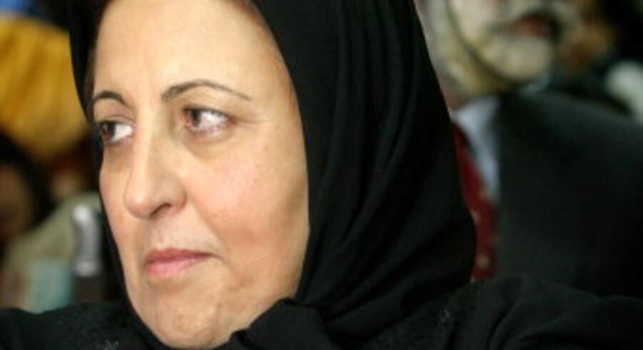 »Islam er imod terror. Imod drab på uskyldige, og imod kolonisering og udnyttelse af andre. Teorien om civilisationernes sammenstød er blot en undskyldning for Vesten til at gå i krig,« siger Shirin Ebadi.  Foto: Morteza Nikoubazl/Scanpix