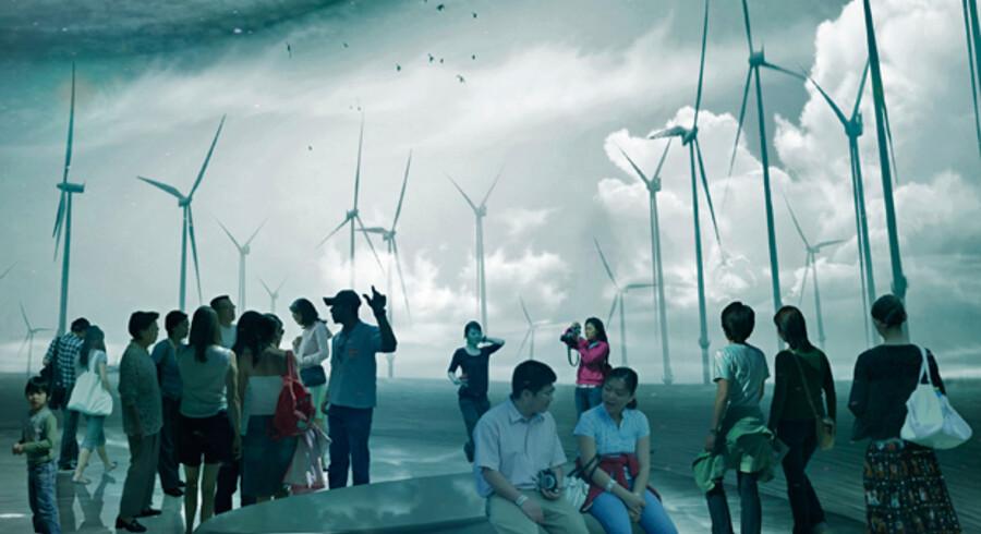 Visualisering af vinderforslaget til den danske pavillon ved EXPO 2012.