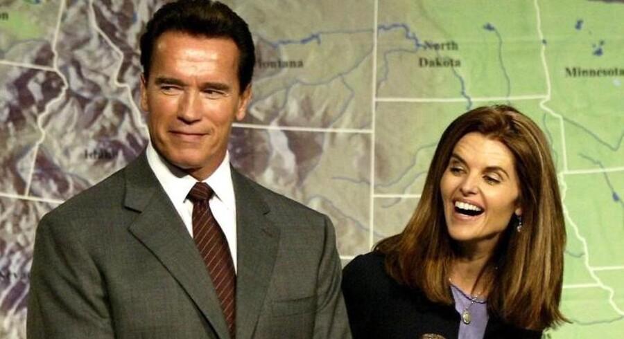 Arnold Schwarzenegger og hustruen Mara Shriver inden parret gik fra hinanden.
